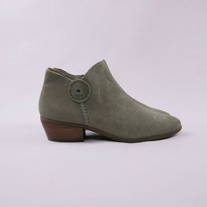 Jack Rogers Peyton Leather Suede Ankle Booties 10